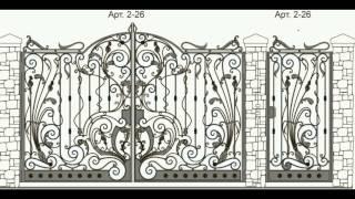 видео кованые ворота на заказ