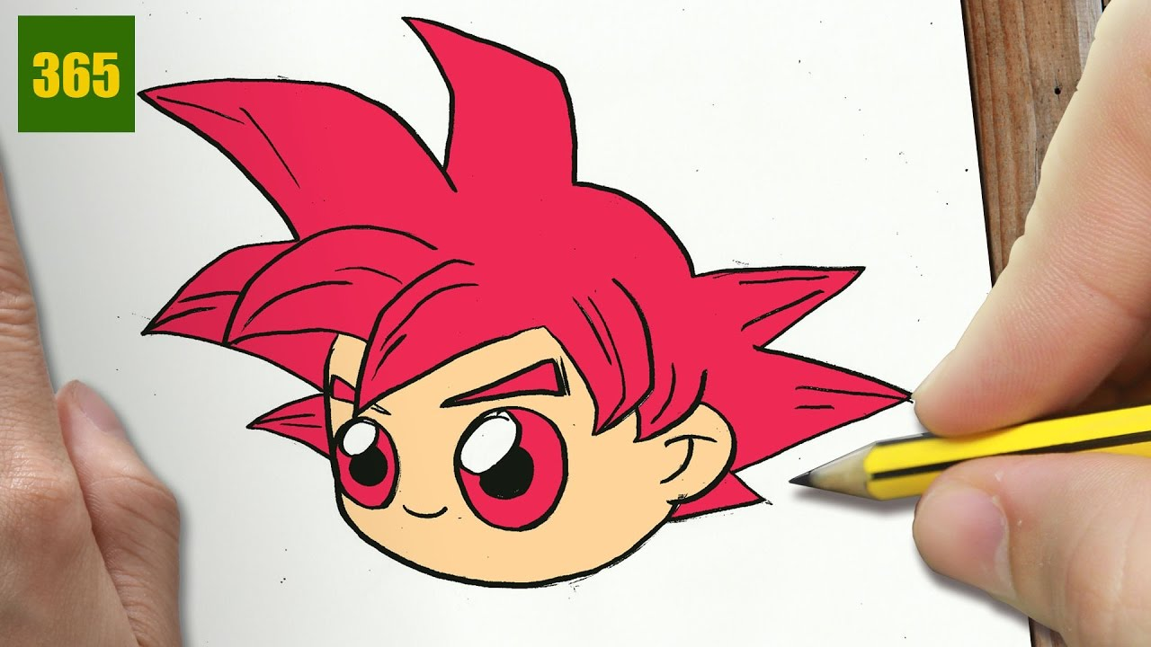 Comment Dessiner Goku Kawaii Etape Par Etape Dessins Kawaii Facile