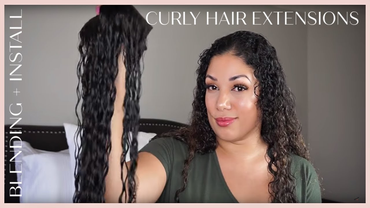 bf2e6b9f8f5 HOW TO BLEND HAIR WITH CURLY EXTENSIONS (CURLY HEAVEN) - YouTube