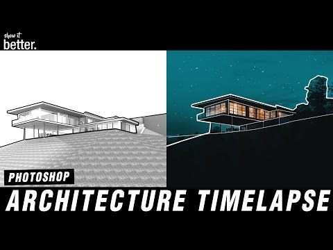 Post Production Timelapse in Photoshop   Architecture Visualisation