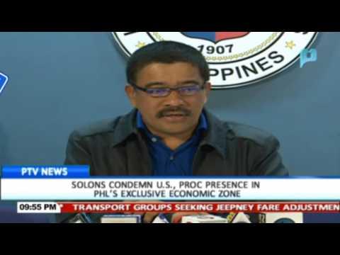 Solons condemn US, China presence in Philippines' Exclusive Economic Zone