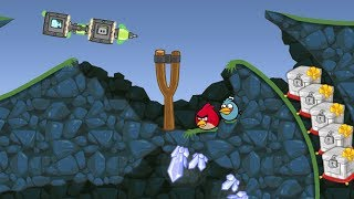Bad Piggies - WIZZARD PIG SLIDING TO MARBLE CRATE WHILE MEETING ANGRY BIRDS!