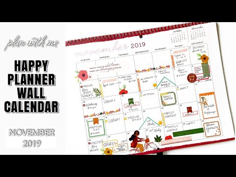 Plan With Me November 2019| Happy Planner Wall Calendar | At Home With Quita