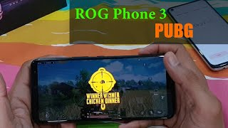 Asus ROG Phone 3 PUBG (Gameplay) gaming review, battery drain Test