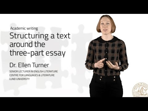 Structuring A Text Around The Three-part Essay