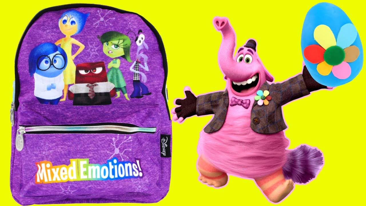 SURPRISE TOY BACKPACK Inside Out Disney Pixar Bing Bong Play Doh ...
