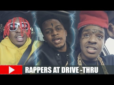RAPPERS AT THE DRIVE-THRU