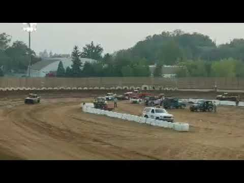 Placerville speedway mini truck roll over