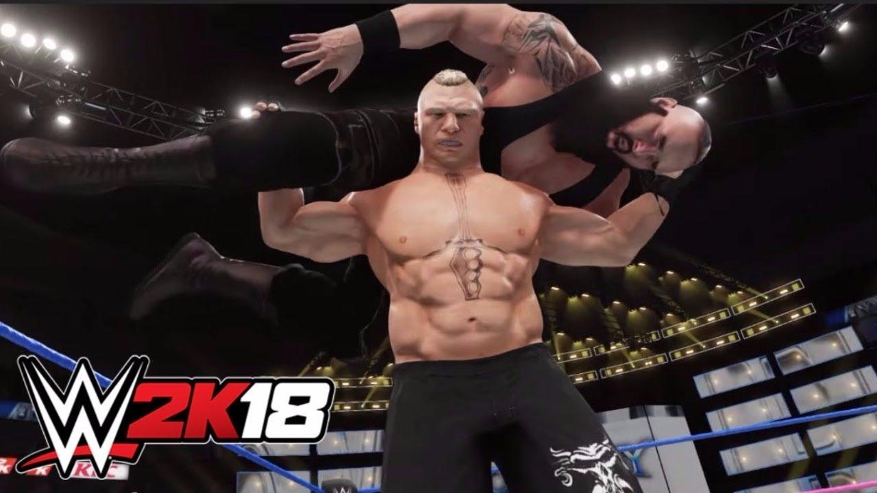 WWW 2k18 Offical Brock Lesnar vs Braun Strowman Gameplay! - YouTube