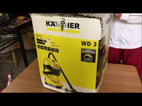 Karcher Wd 3 Multi Purpose Vacuum Cleaner Unboxing And