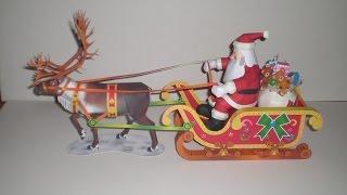 Weihnachtsmann - Santa Claus - Kartonmodell - Papercraft