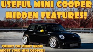 MINI COOPER HIDDEN FEATURES! (THINGS YOU DIDN'T KNOW ABOUT YOUR MINI COOPER!