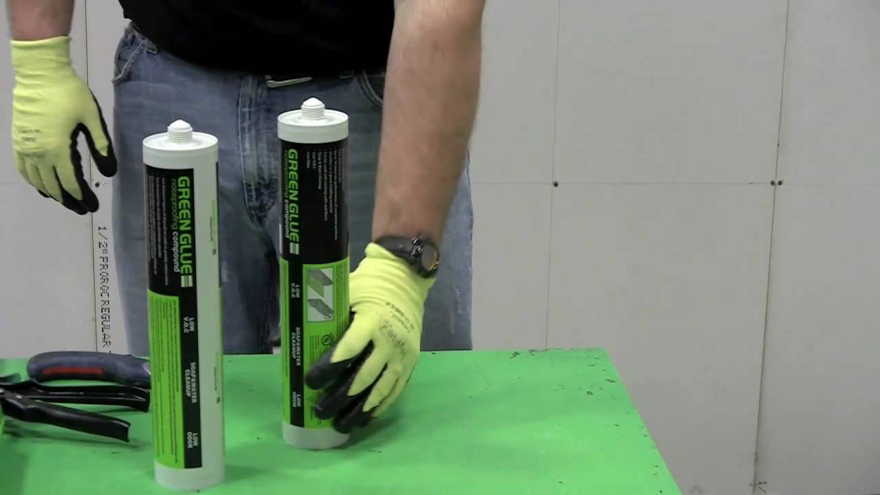 Applying Green Glue Noiseproofing Compound - CertainTeed Gypsum