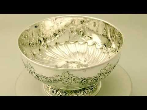 Sterling Silver Presentation Bowl - Antique Edwardian - AC Silver (W8657)