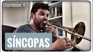 Estudio de Sincopas. Aula de trombon-vlog