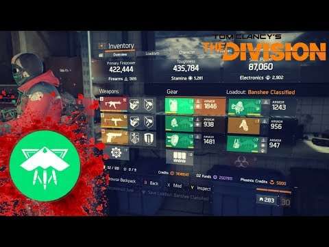 "The Division l 5 PIECE BANSHEE ""BANSHEE SAVAGE"" BUILD W/LAST STAND GAMEPLAY"
