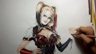 Batman Arkham Knight:  Harley Quinn Drawing