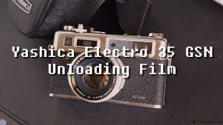 Yashica Electro 35 GSN (Unloading Film)