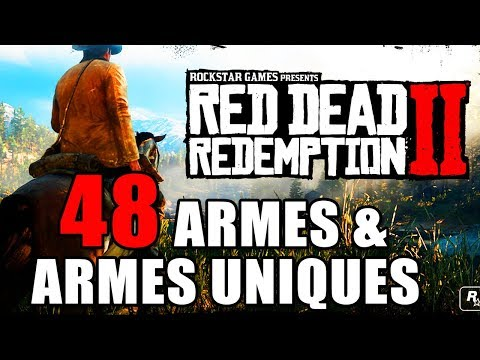 RED DEAD REDEMPTION 2 : 100% - ( compendium ) 48 weapons and all unique weapons
