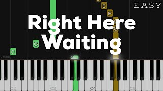 Right Here Waiting - Richard Marx | EASY Piano Tutorial