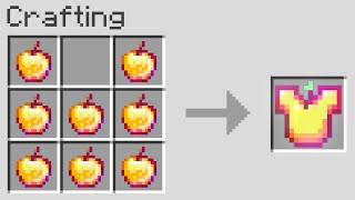 Minecraft UHC but you can craft armor from notch apples..
