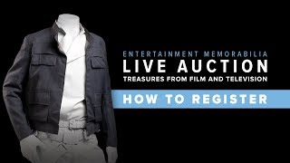 How to Register for Entertainment Memorabilia Live Auction 2018