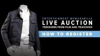 How to Register for Entertainment Memorabilia Live Auction 2018