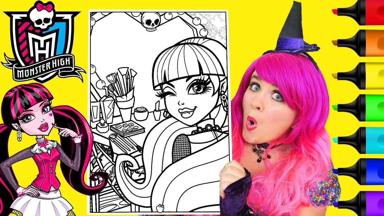 draculaura coloring pages # 13