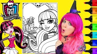 Coloring Monster High Draculaura Coloring Page Prismacolor Markers | KiMMi THE CLOWN