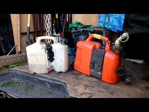 Stihl vs Husqvarna, Which chainsaw combi fuel can?