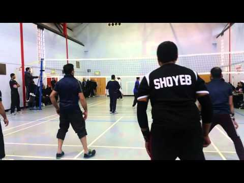 Gujarati Volleyball tournament in uk dabhel vs Batley first game 2016
