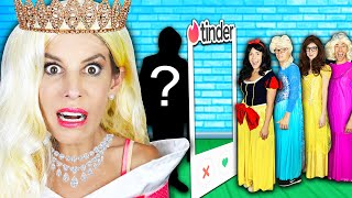 Giant Disney Princess Dating Game in Real Life to Win First Date with Crush! | Rebecca Zamolo
