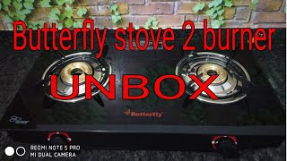 Butterfly stove 2 burner unboxing in HINDI