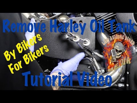 Remove & Install Oil Tank on Harley Davidson | Motorcycle Biker Podcast
