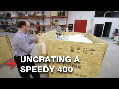 Unboxing a laser machine | Uncrating Speedy 400 or Speedy 360