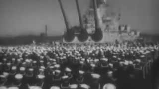 Admiral Towers Relieves Admiral Spruance As Commander 5th Fleet, Tokyo Bay, 11/08/1945 (full)