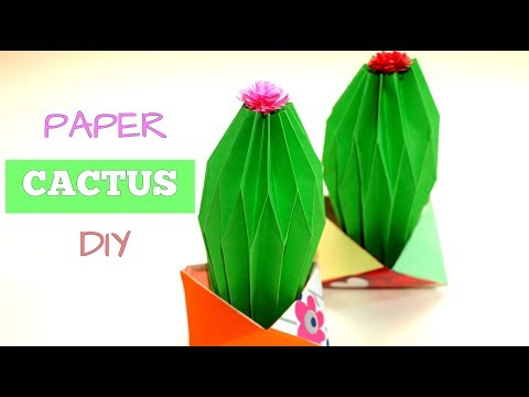 How to make PAPER CACTUS PLANTS