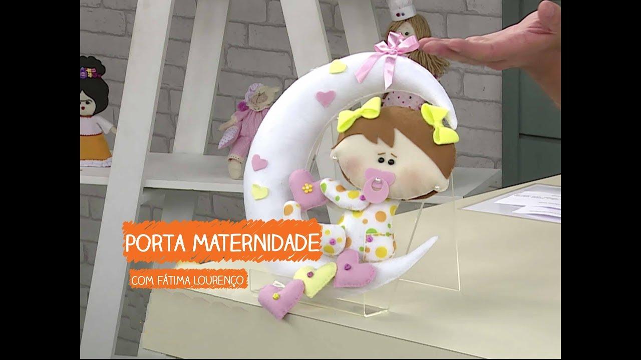 Adesivo De Parede Sala ~ Porta Maternidade com Fátima Lourenço Vitrine do Artesanato na TV Rede Família YouTube