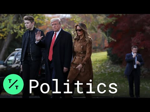 Trump, Melania and Barron Depart for Thanksgiving in Florida