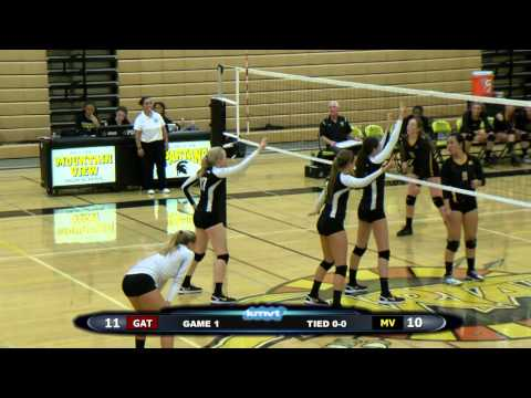 Los Gatos WIldcats vs Mountain View Spartans - Volleyball October 8, 2015