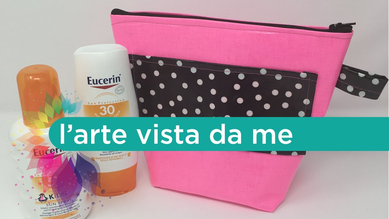 Cucito creativo tutorial pochette mare plastificata fai for Cucito creativo youtube