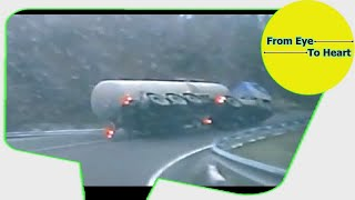 Car Crash and Slip , Slide Rain and Winter Weather Compilation OCTOBER 2017 (1213) HD