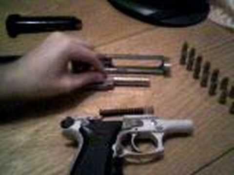Desmontagem: Pistola Taurus PT-58 HC .380acp (câmara PREVIAMENTE vazia)