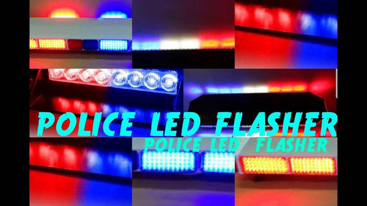 POLICE LED FLASHER || latest 2018 - YouTube