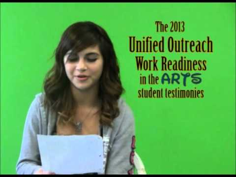 Unified Outreach Work Readiness in the Arts Student Interviews