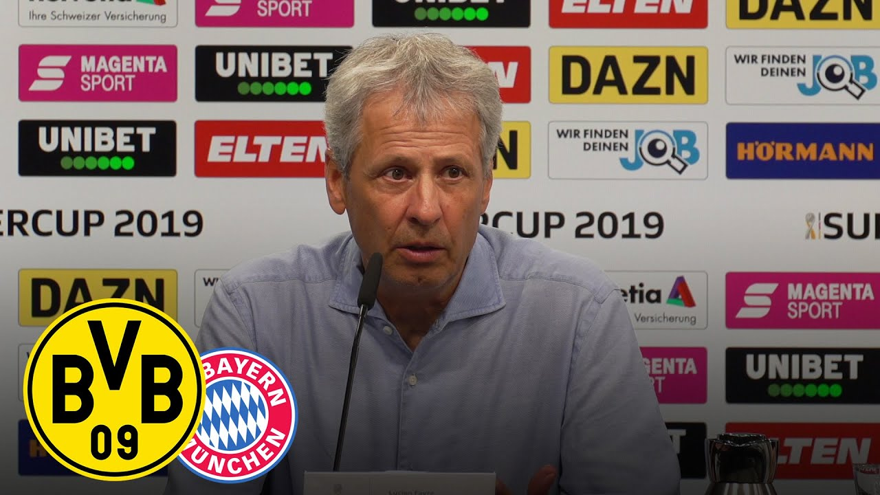 PK nach dem Supercup mit Lucien Favre und Niko Kovac | BVB - FC Bayern München 2:0