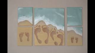 Tried it Tuesday, Ep. 2: Beach Footprint Painting