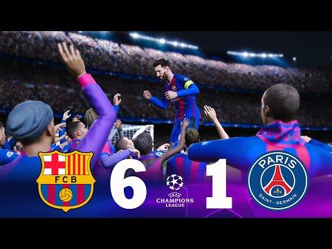 Download Recreación Barcelona 6-1 PSG - UEFA Champions League 2016/17