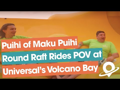 Maku Puihi on-ride footage at Universal's Volcano Bay water theme park