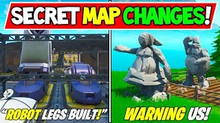 "*NEW* FORTNITE SECRET MAP CHANGES v9.32 ""ROBOT Being BUILT!"" + ""Stone People Warning"" Season 9 Story"